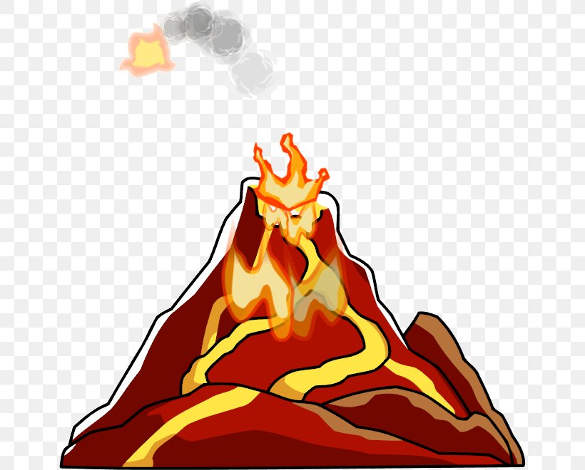 Volcano Lava Clip Art, PNG, 654x660px, Volcano, Animation.