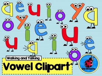 Clipart: Walking, Talking Vowel.