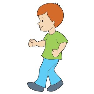 Clipart Of Walking Feet.