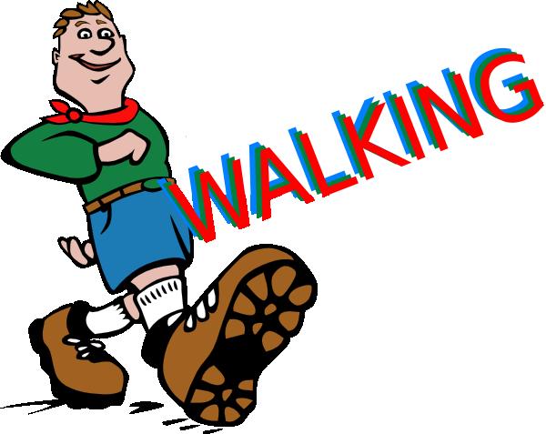 Animated walking feet clipart.