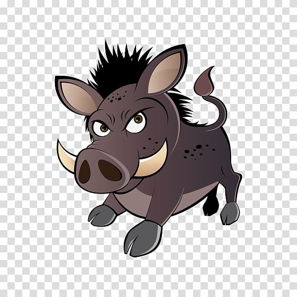 Wild boar Common warthog Cartoon, others transparent.