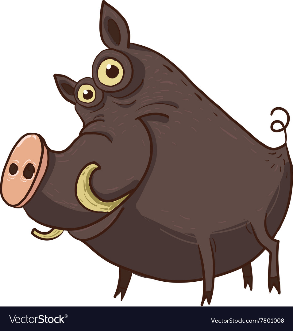 Cartoon funny warthog.