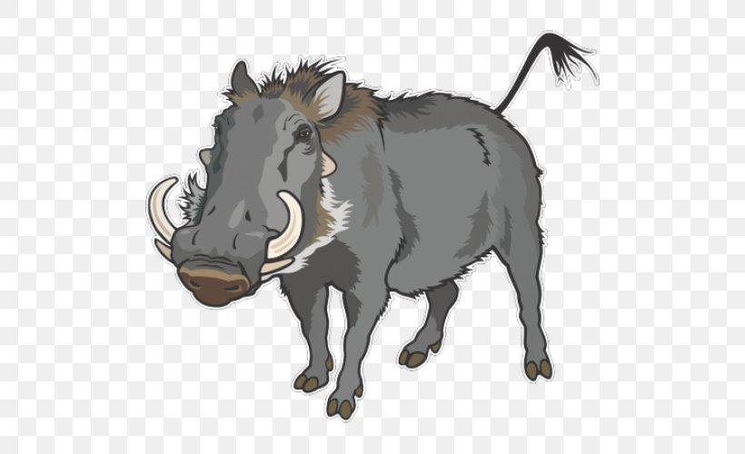 Wild Boar Common Warthog Clip Art, PNG, 500x500px, Wild Boar.