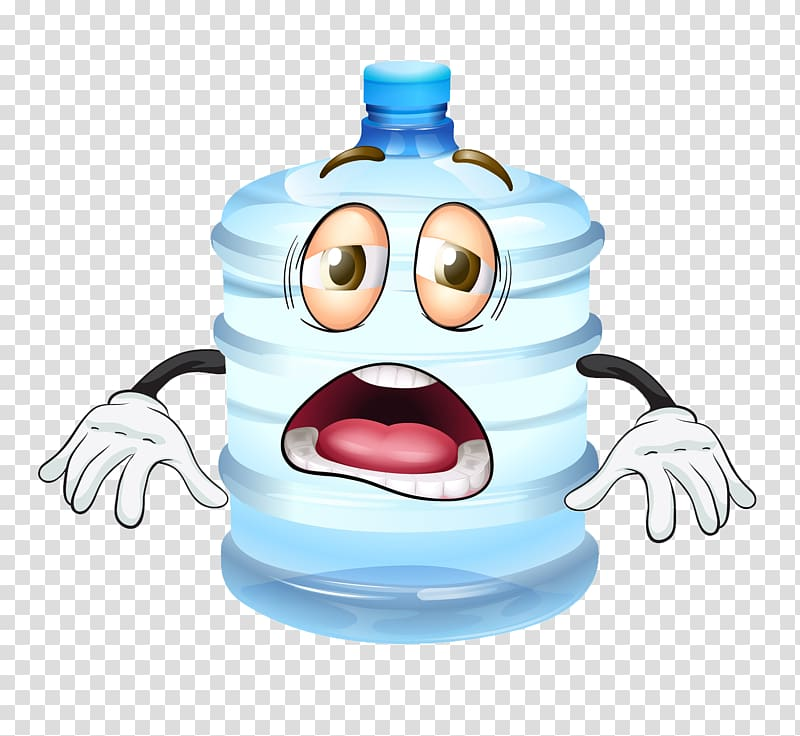 Water Cartoon , Bucket of water material transparent.