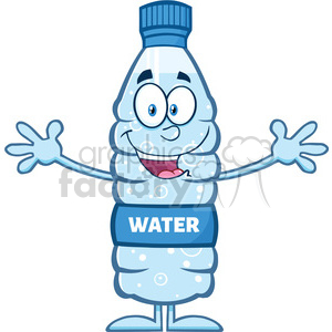 royalty free rf clipart illustration smiling water plastic bottle cartoon  mascot character wanting a hug vector illustration isolated on white ..