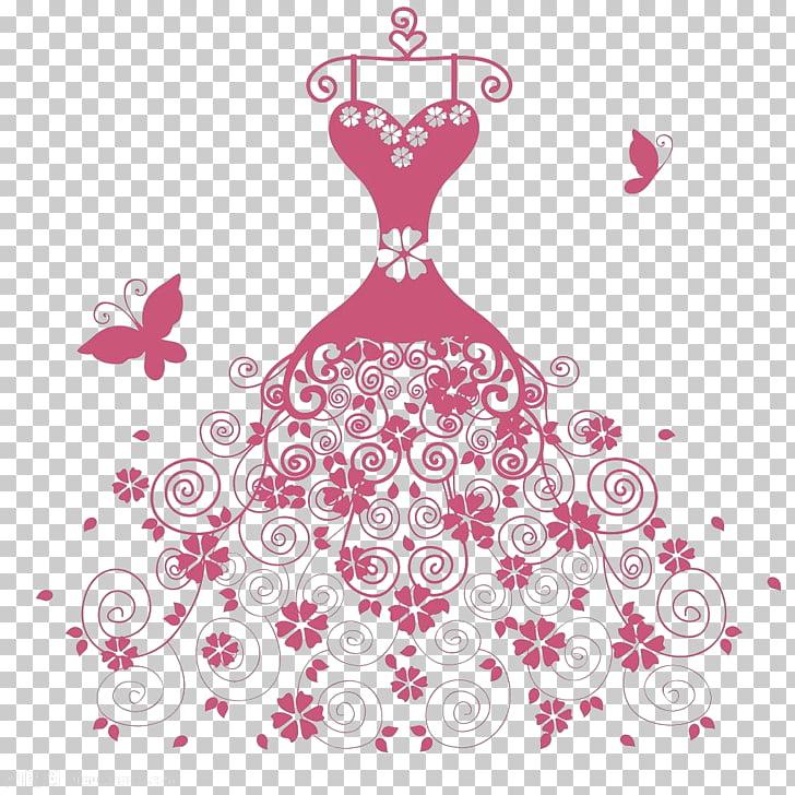 Drawing Animation Illustration, Cartoon wedding dress.