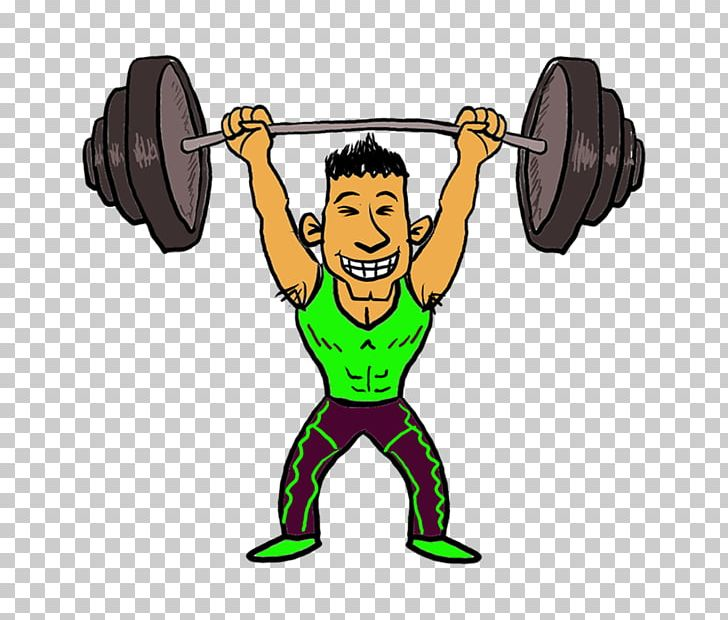 Olympic Weightlifting Cartoon Weight Training PNG, Clipart.