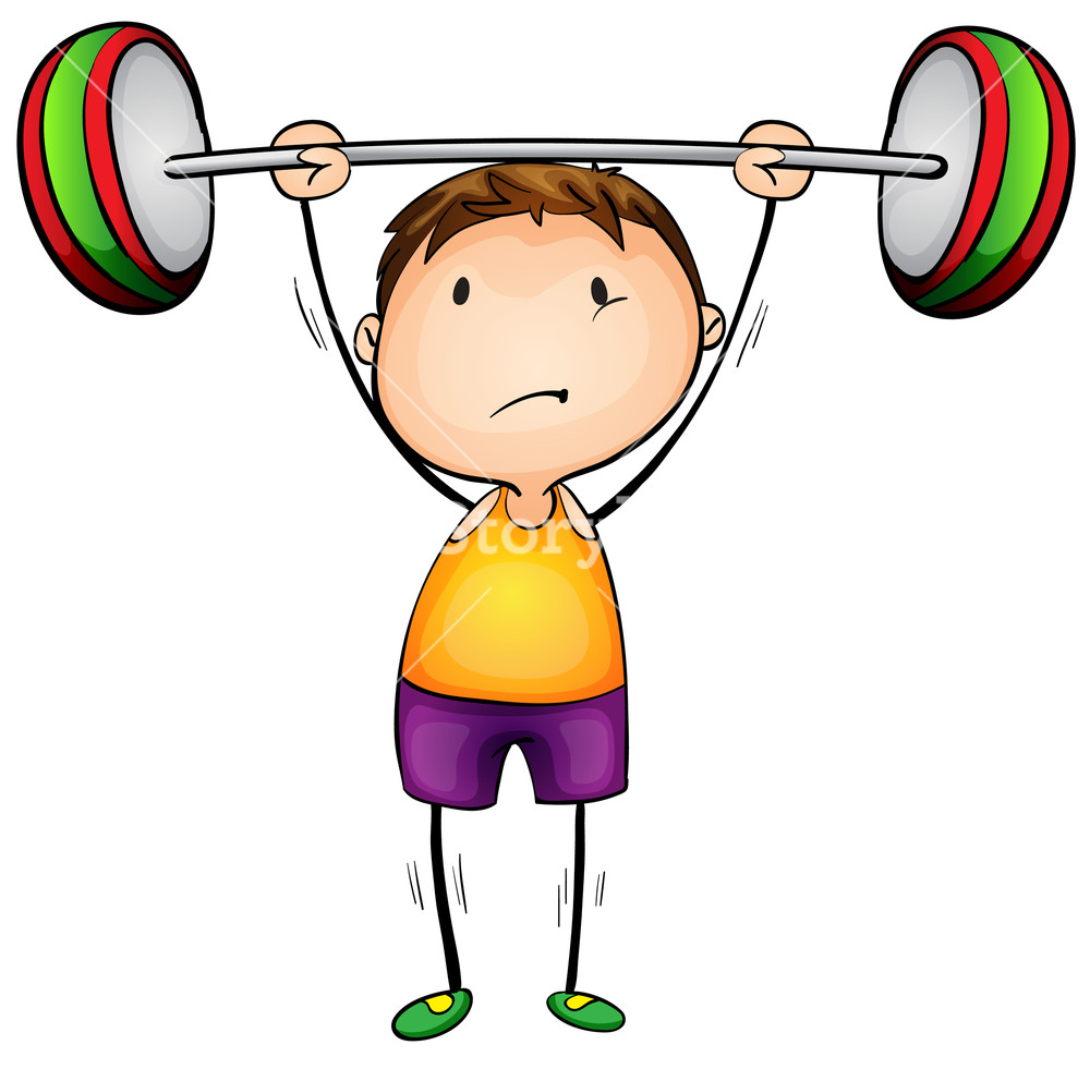 290 Lifting Weights free clipart.