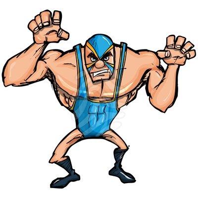 Cartoon Wrestling Clipart.