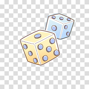 Cartoon Dice transparent background PNG cliparts free.