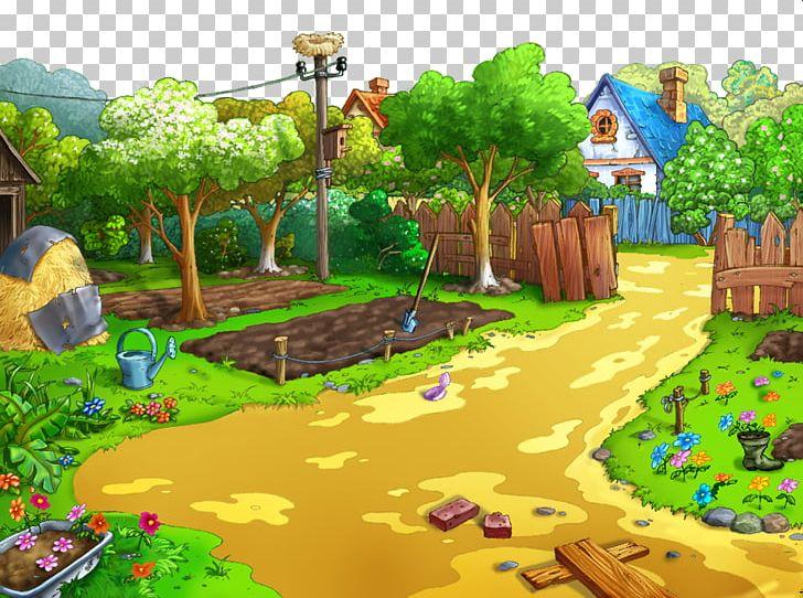 Gardening Cartoon Desktop PNG, Clipart, Animation, Biome.