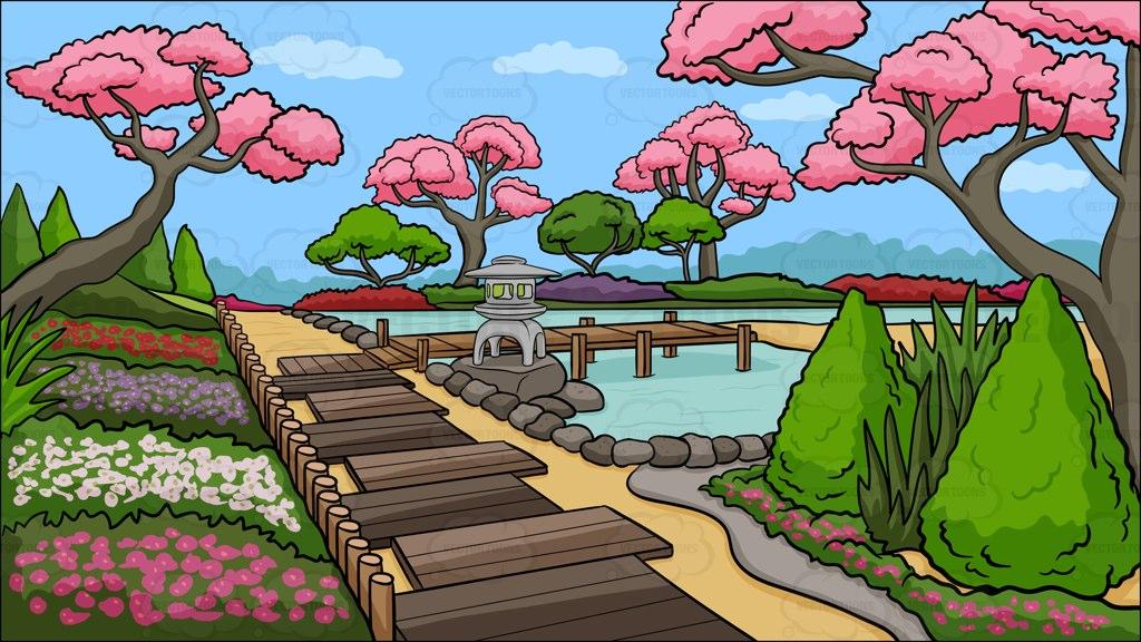 Garden cartoon clip art 2.