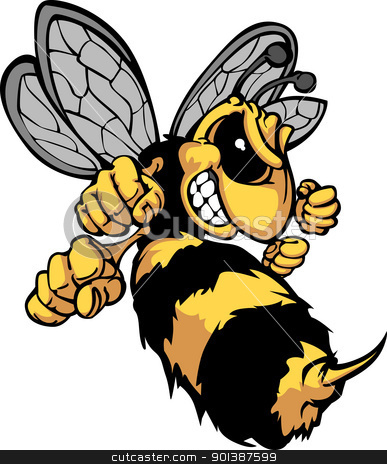 Bee Hornet Cartoon Vector Image stock vector.
