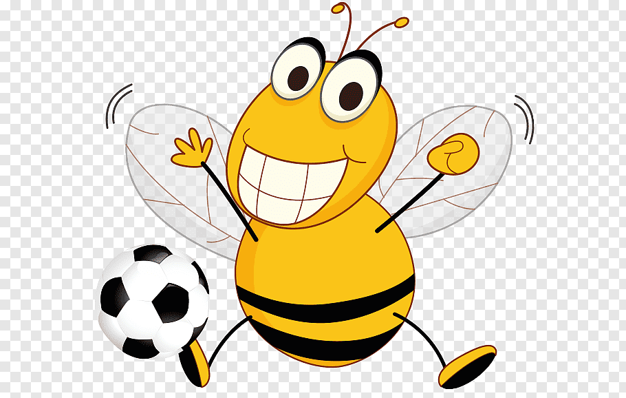 Bee Hornet Yellowjacket, Bee Football s free png.
