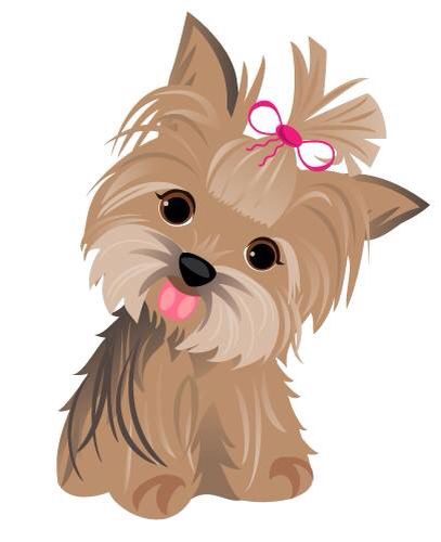 Yorkie cartoon.