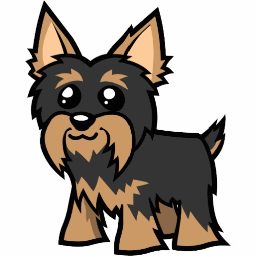 Cartoon yorkie clip art.