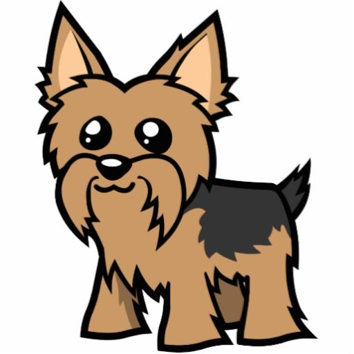 Cartoon Yorkie (short hair) Cutout.
