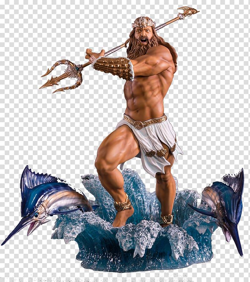 Poseidon illustration, Medusa Hades Poseidon Zeus Greek.