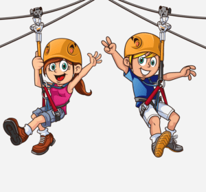 Zip Line Cartoon Images.