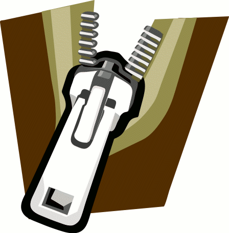 Animated Zipper Clipart.