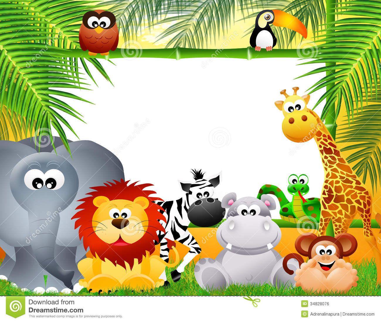 Zoo Animals Cartoon Royalty Free Stock Image.