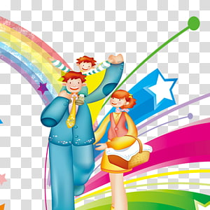 Childrens Day Poster transparent background PNG cliparts.
