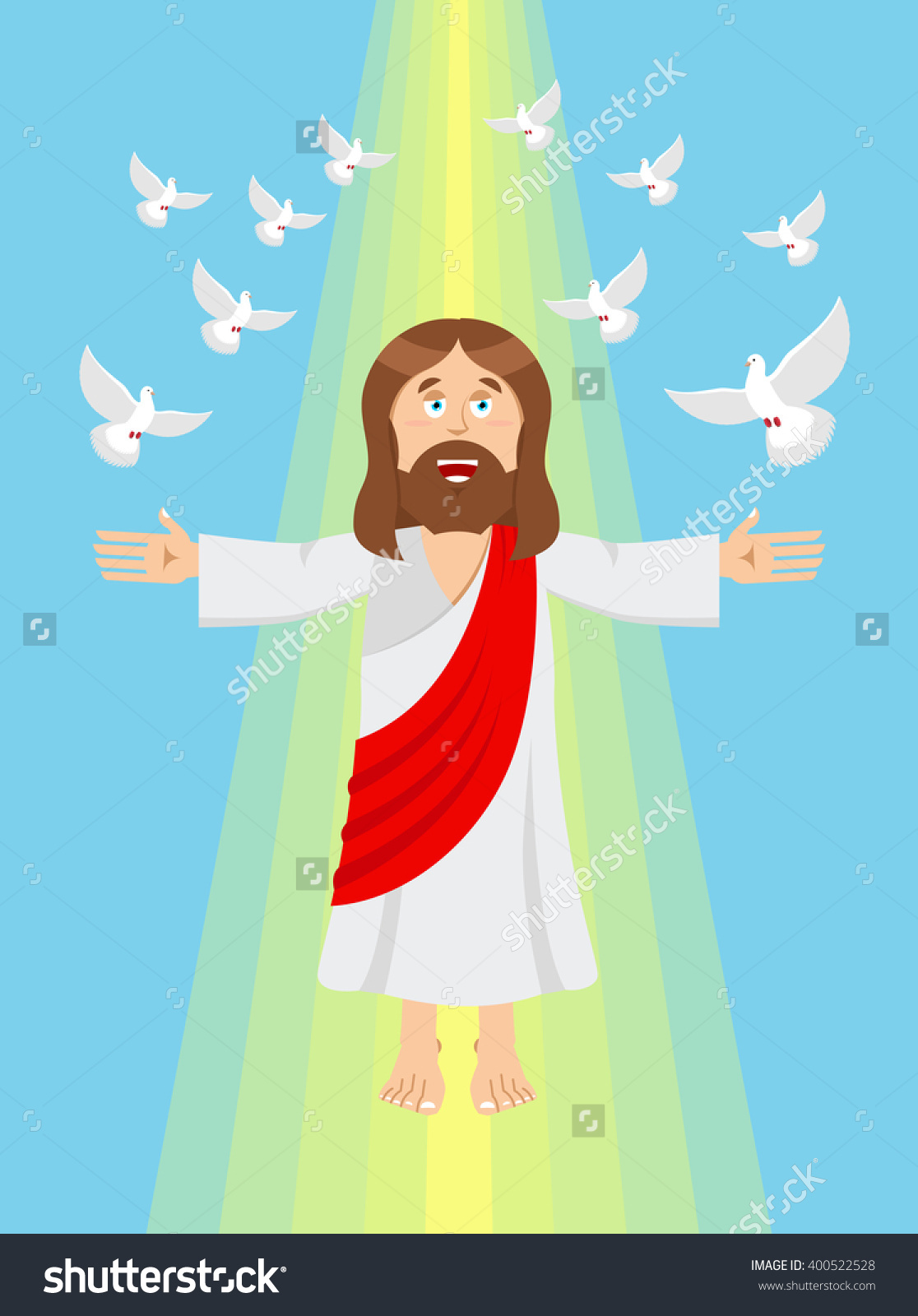 animation clipart of jesus in heaven