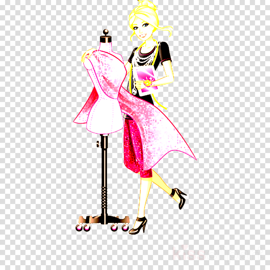 fashion illustration pink costume design fashion design clip.