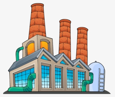 Free Factories Clip Art with No Background.