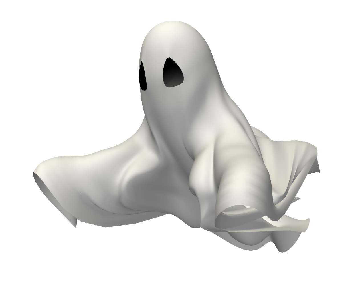 Floating Ghost Animated film Clip art.