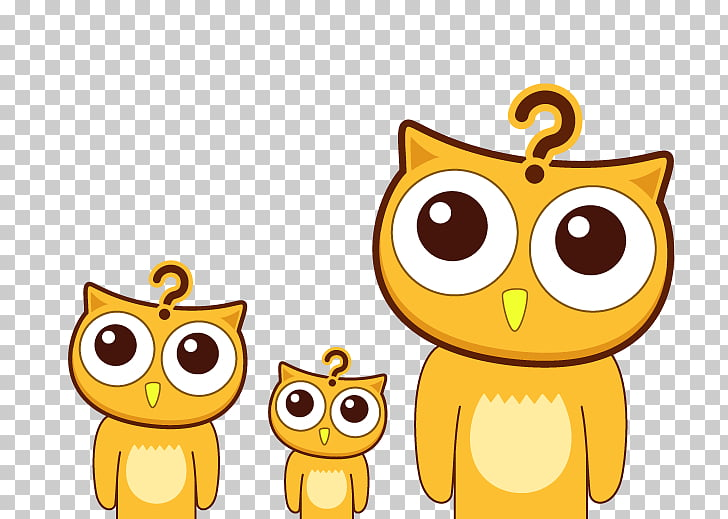 Owl Animation Icon, Meng pet cat questions PNG clipart.