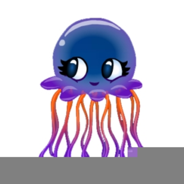 Animated Jellyfish Clipart.