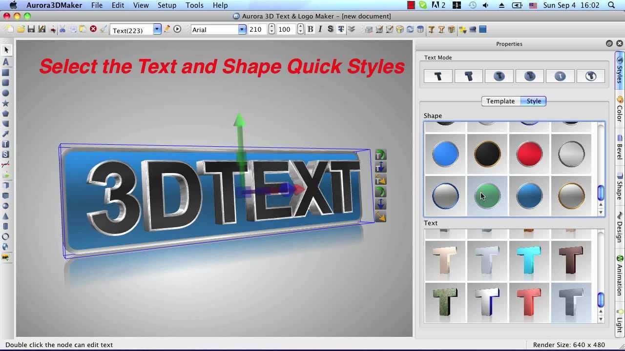 Aurora 3D Maker for Mac.