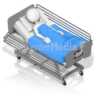 Figure Hospital Bed Isometric.
