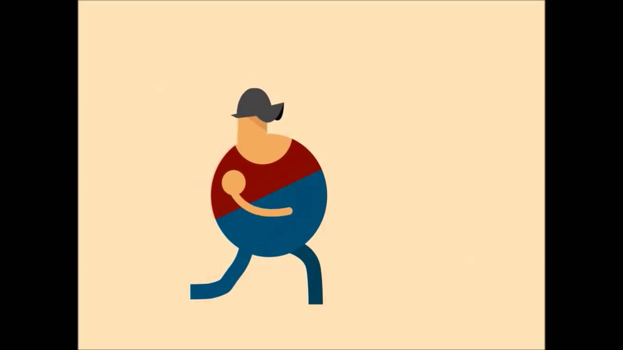 walking character animation after effects project download.