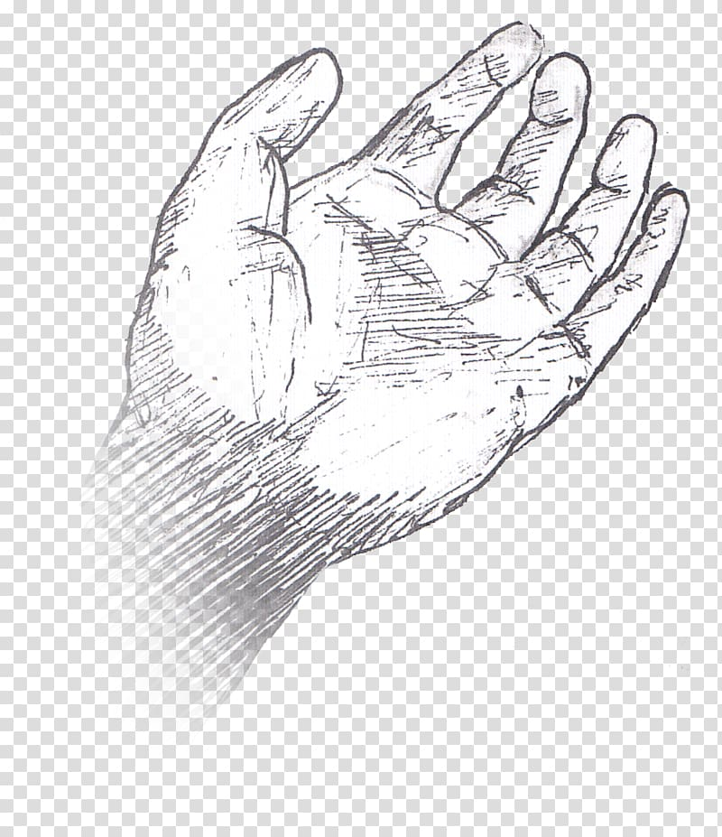 Thumb Hand model Line art Sketch, design transparent.