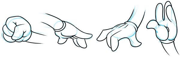 How to Draw Cartoon Hands.