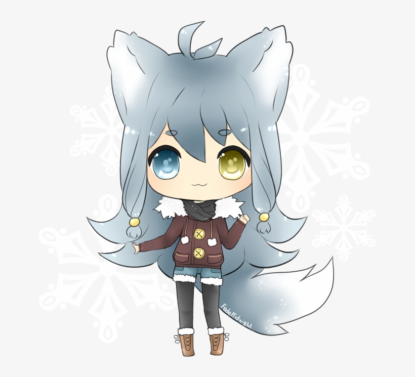 Arctic Wolf Clipart Female.