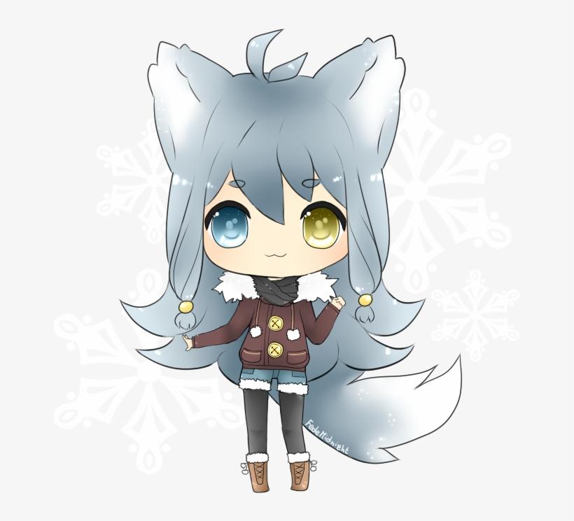 Arctic Wolf Clipart Female.