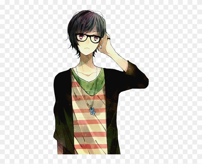 Anime, Boy, And Glasses Image.