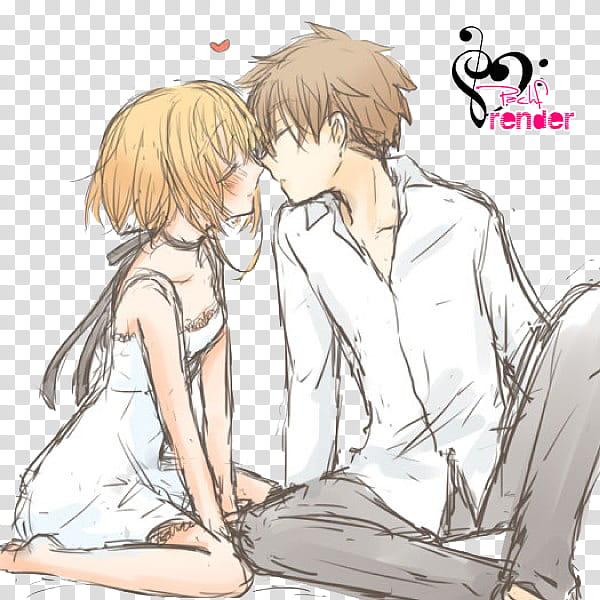 Renders Anime, boy and girl anime illustration transparent.
