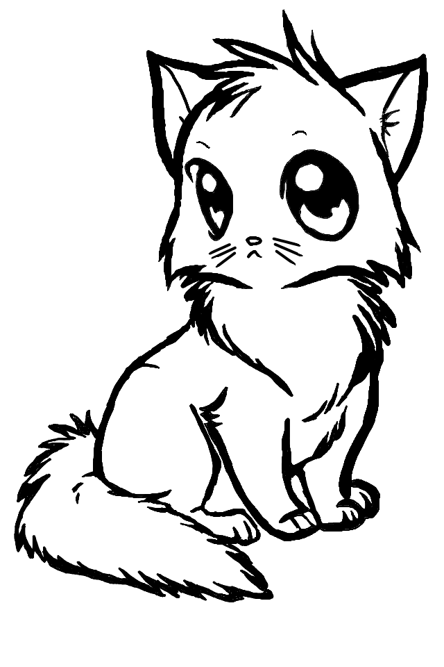 Anime Cat by KVinS on Clipart library.