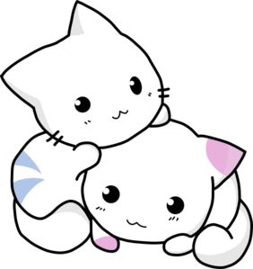 Free Black And White Anime Cat, Download Free Clip Art, Free.