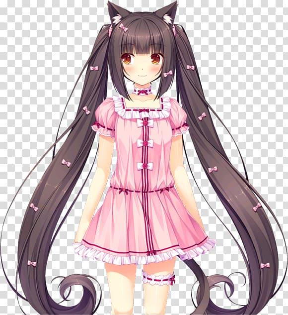 Nekopara Desktop Anime Cat, Anime transparent background PNG.