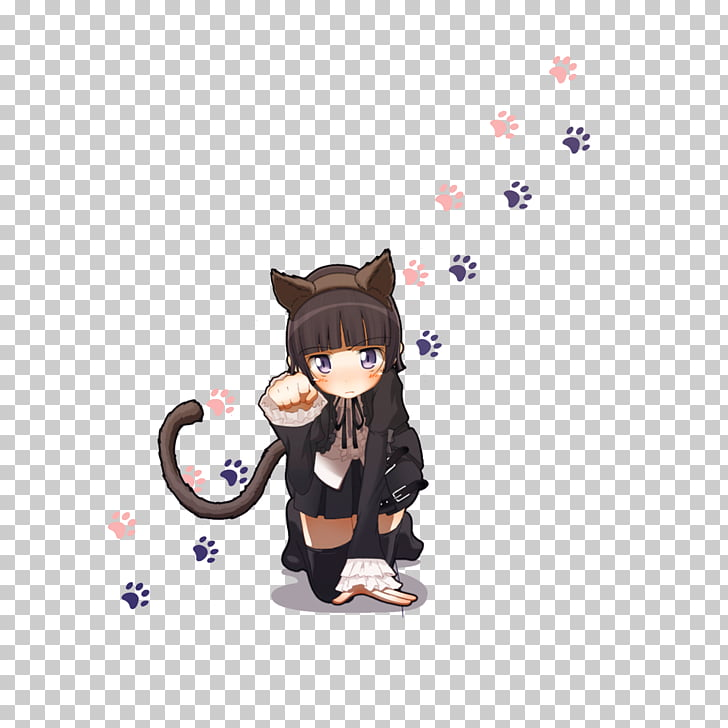 Oreimo Anime Catgirl Chibi , Lovely cat girl PNG clipart.