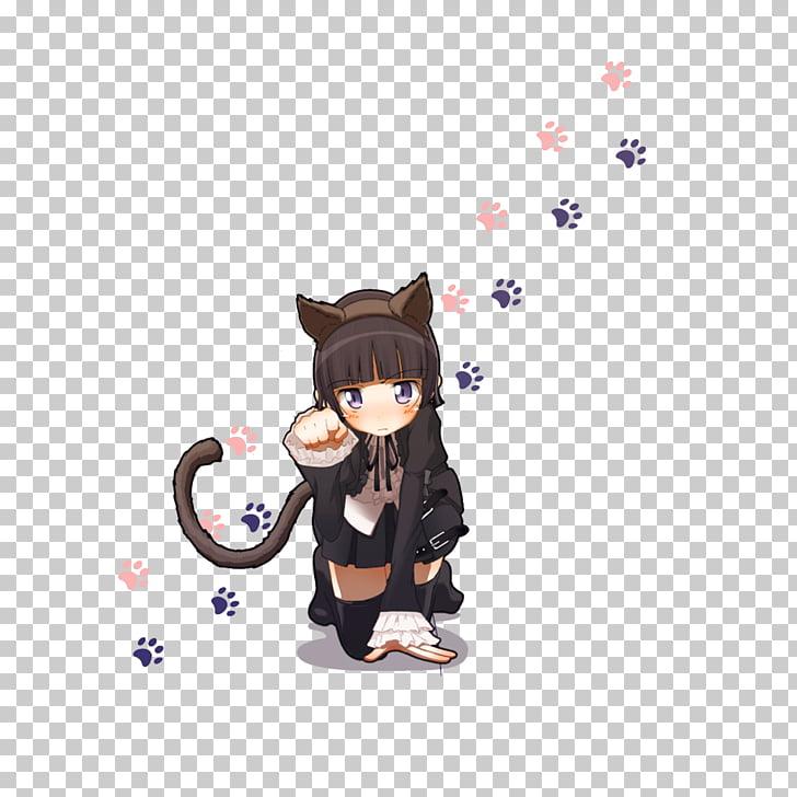Oreimo Anime Catgirl Chibi , Lovely cat girl PNG clipart.