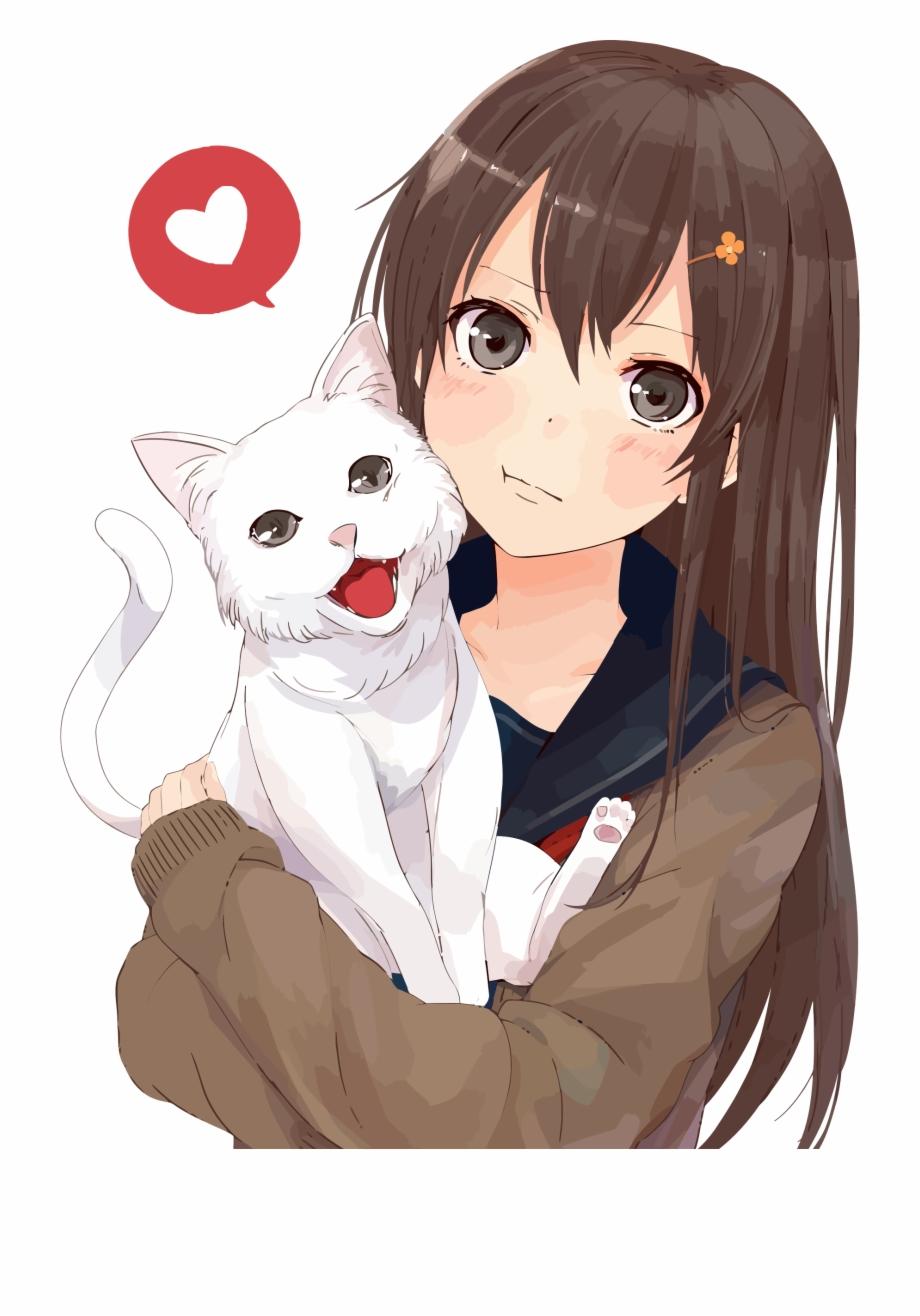 Anime Girl Clipart Cat.
