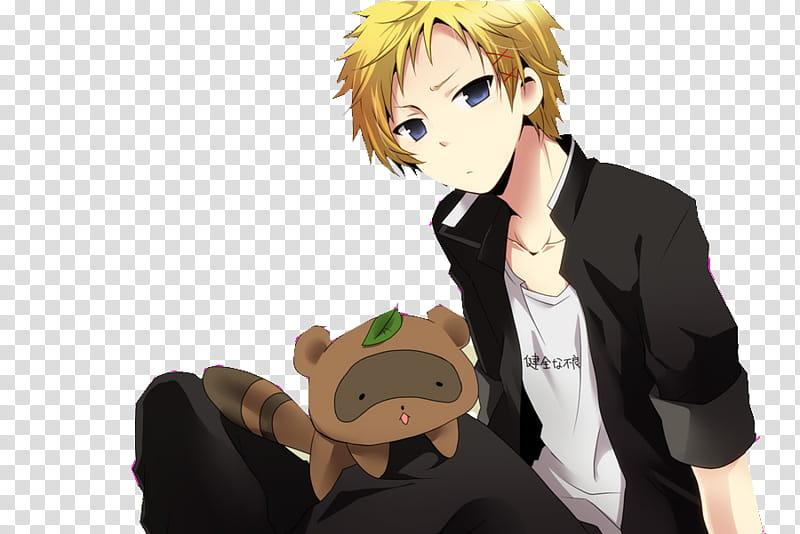 Inu x Boku SS De Renders, a blonde male anime character.