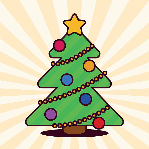 Anime Christmas Tree Clip Art, Vector Images & Illustrations.