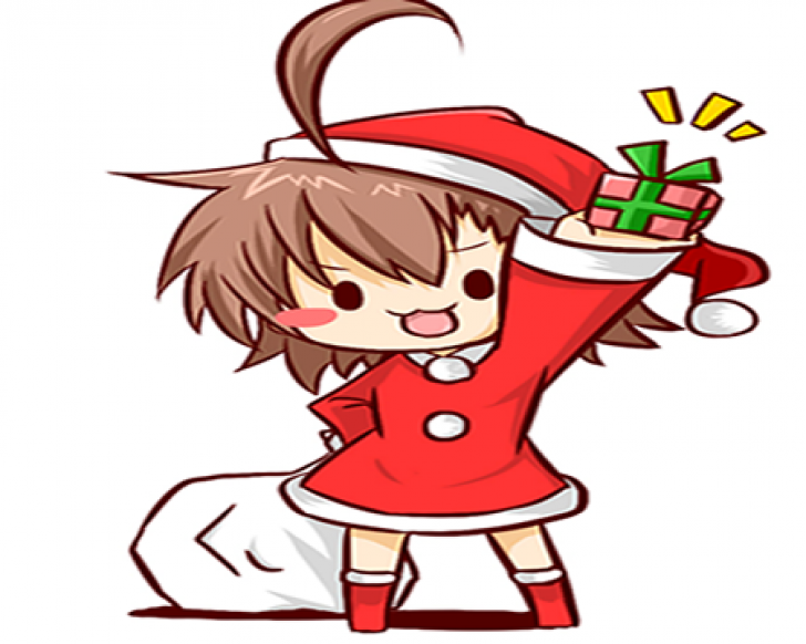 anime christmas Chrome Theme.